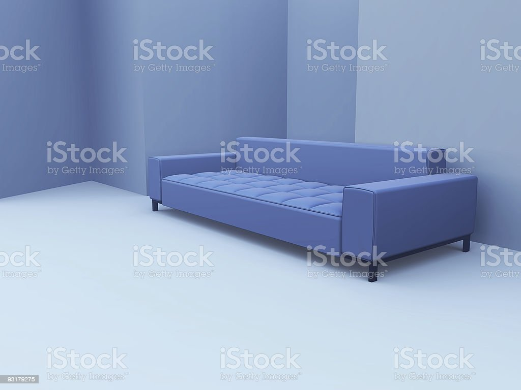 sofa in blue royalty-free stock photo