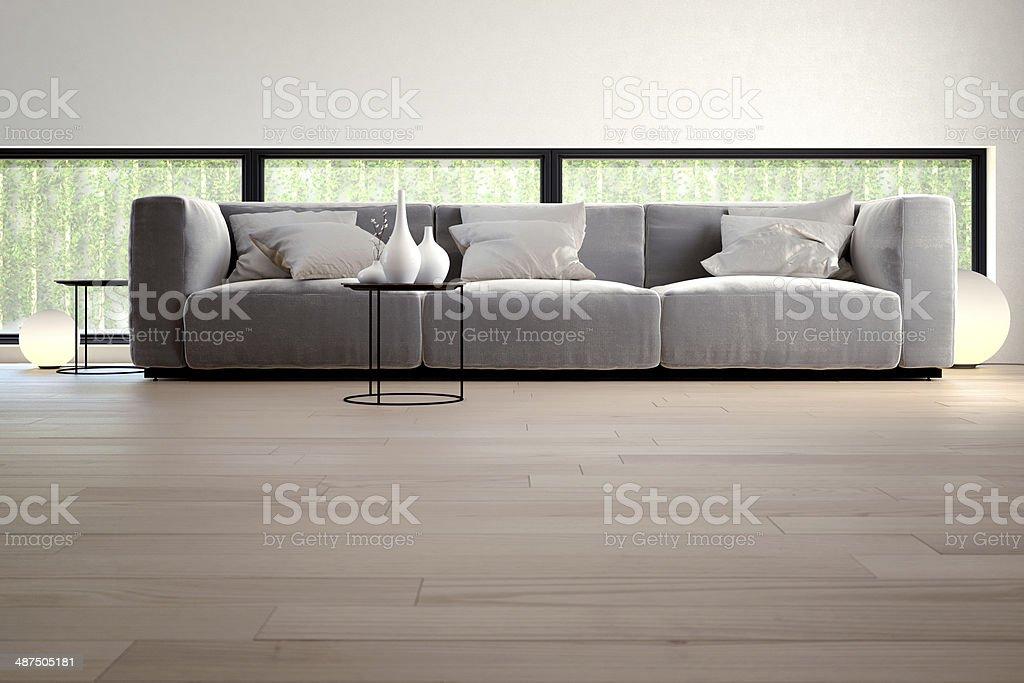Sofa in luxury Interior stock photo