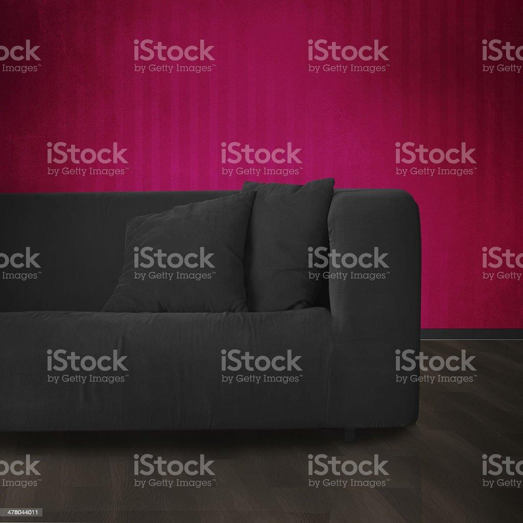 Sofa in modern interior royalty-free stock photo