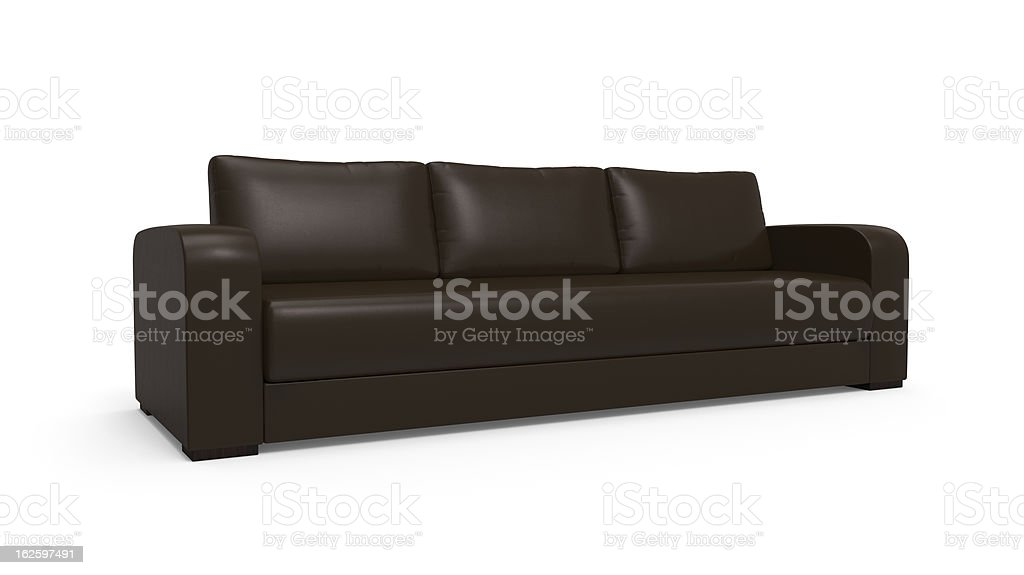 Sofa Isolated on White Background royalty-free stock vector art