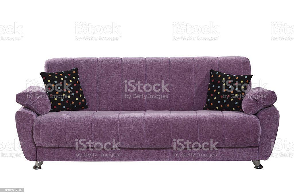 sofa isolated on white background with path royalty-free stock photo