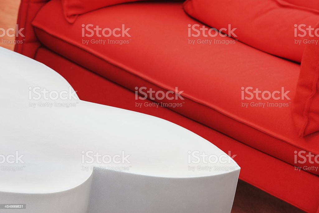 Sofa Loveseat Hassock Footsool Coffee Table royalty-free stock photo
