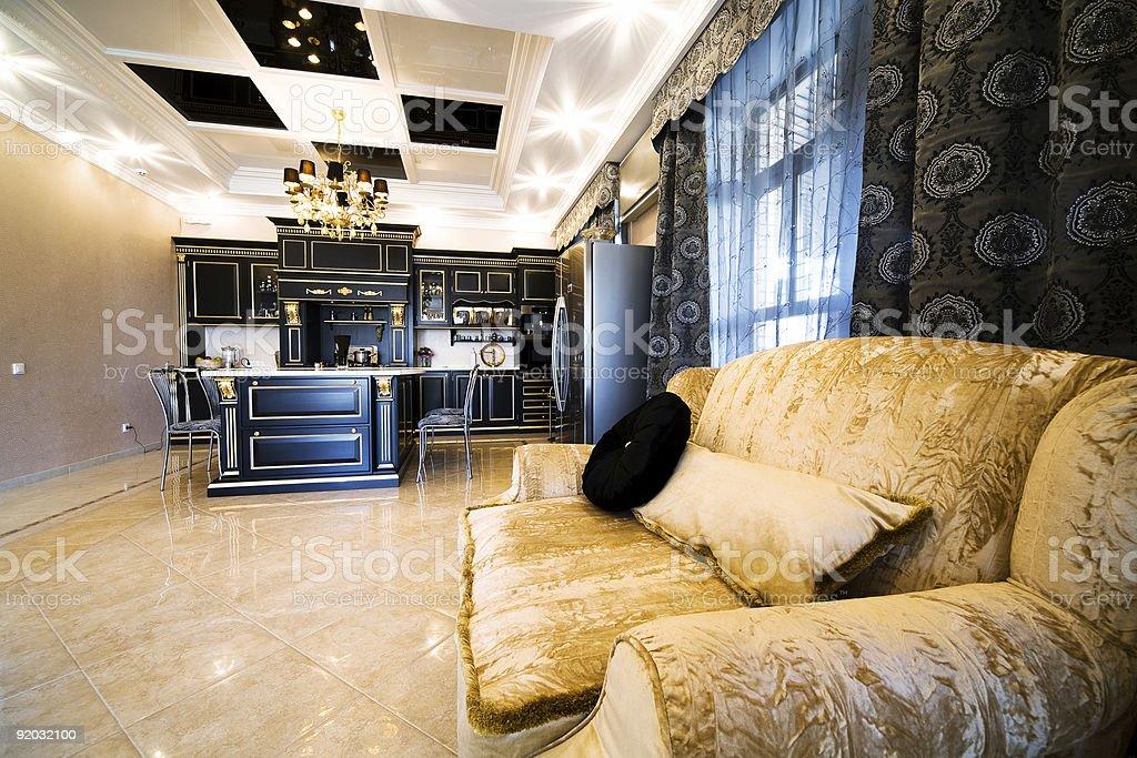 Sofa on beautiful kitchen royalty-free stock photo