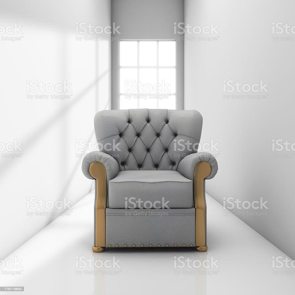 Sofa on corridor stock photo