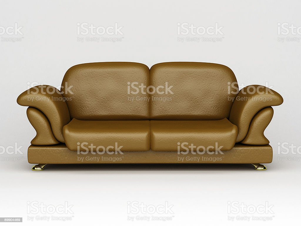sofa on white background royalty-free stock photo