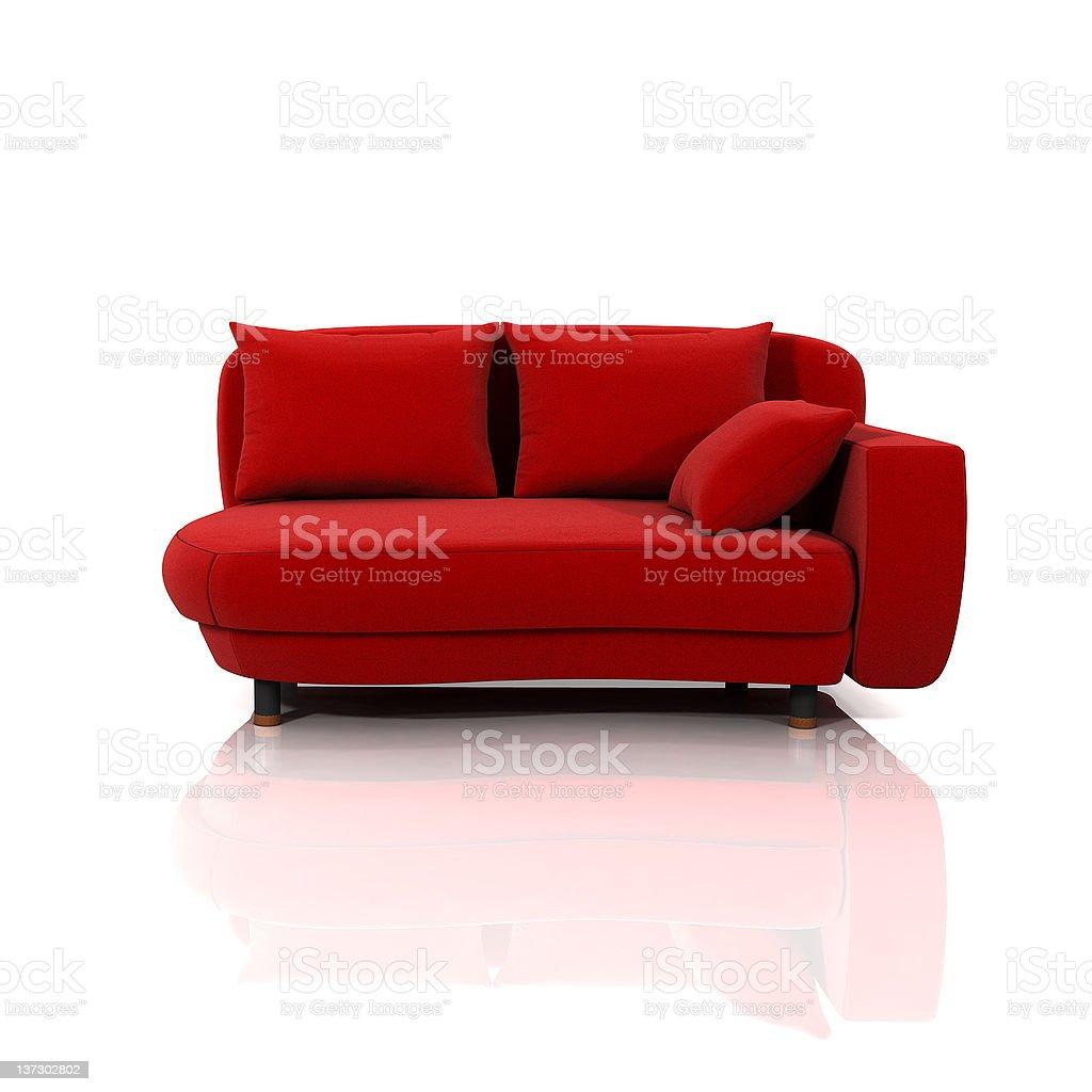 Sofa rojo stock photo