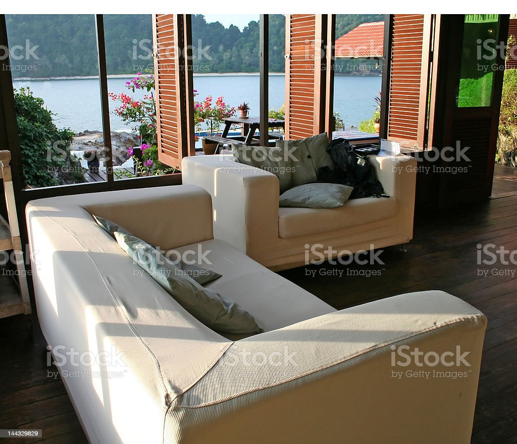 Sofa seaside royalty-free stock photo