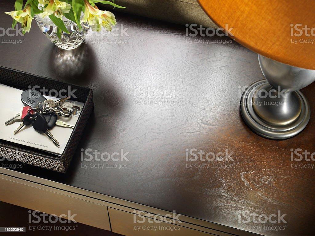 Sofa Table with Keys stock photo