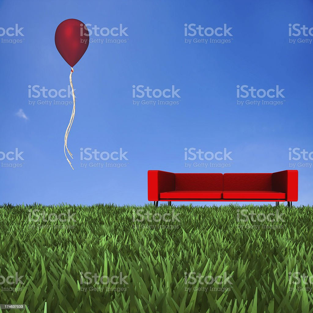 Sofa with nice background royalty-free stock photo