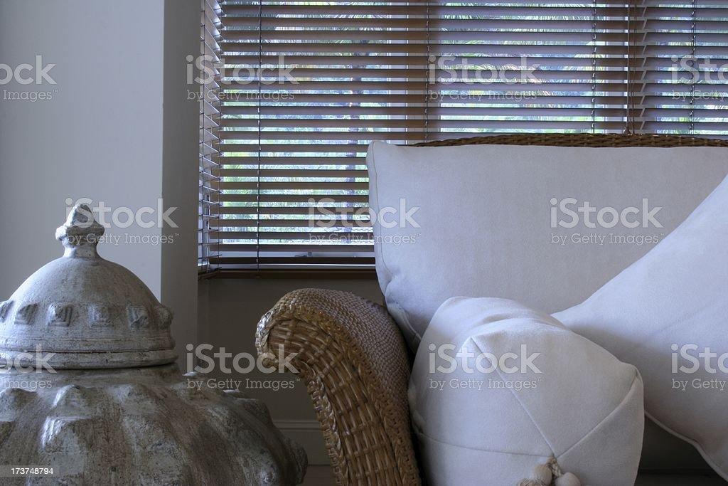 sofa with vase royalty-free stock photo