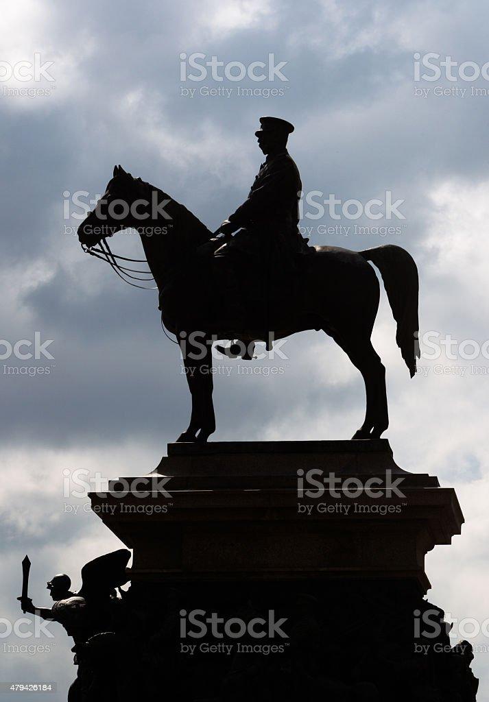 Sofia Bulgaria Monument Alexander II stock photo