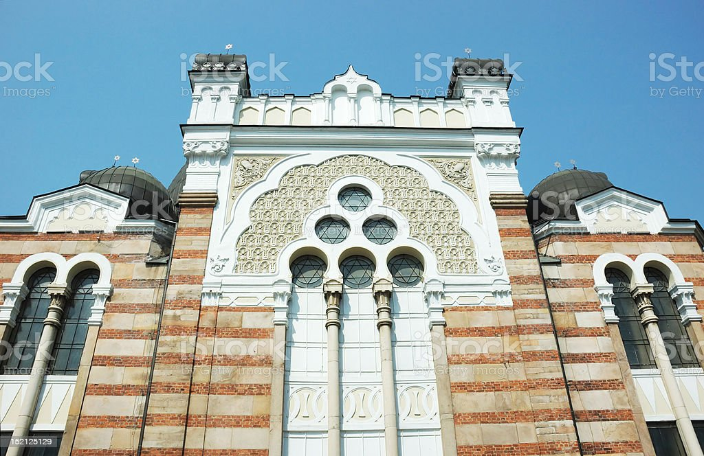 Sofia Synagogue - largest temple in Southeastern Europe,Bulgaria royalty-free stock photo
