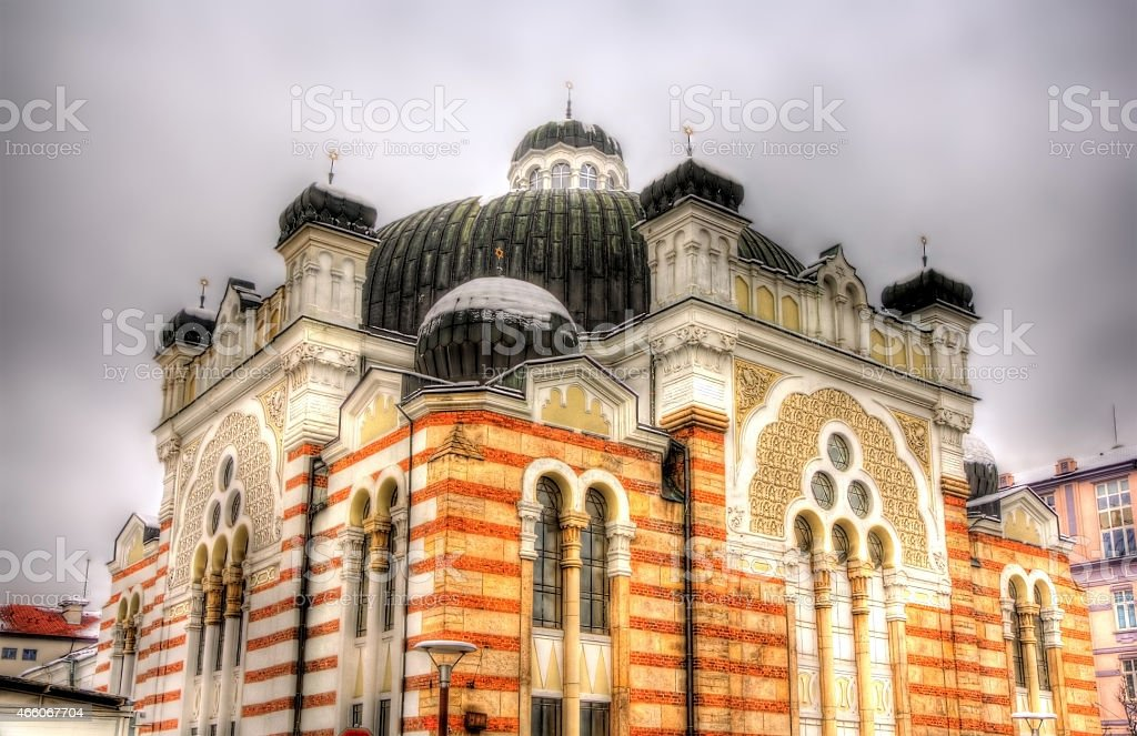 Sofia Synagogue, the largest synagogue in Southeastern Europe stock photo