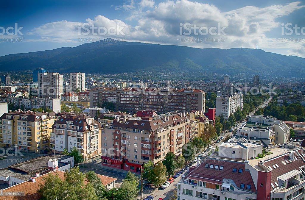 Sofia, view of Vitosha mountain stock photo