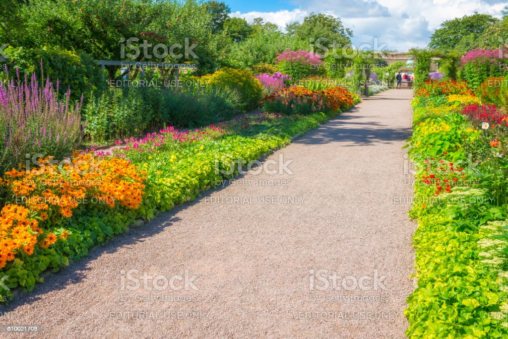 Sofiero gardens stock photo