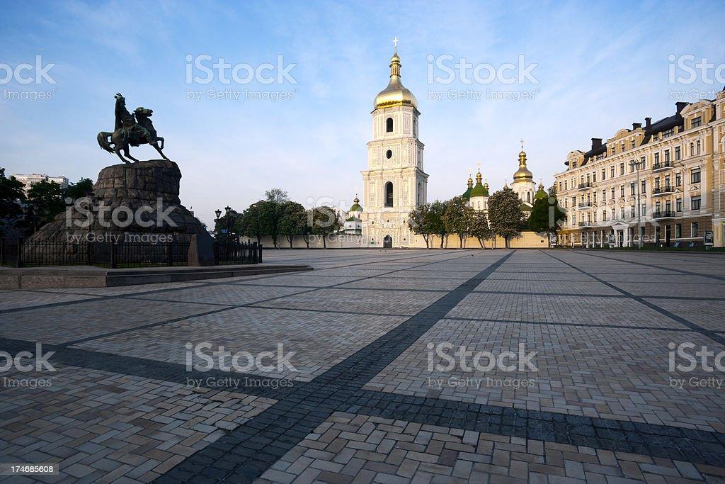 Sofiskaya Square, Kiev. stock photo