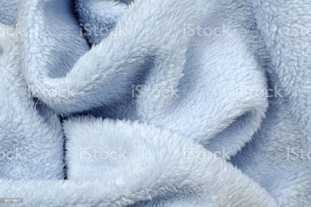 Soft Blue Baby Blanket stock photo