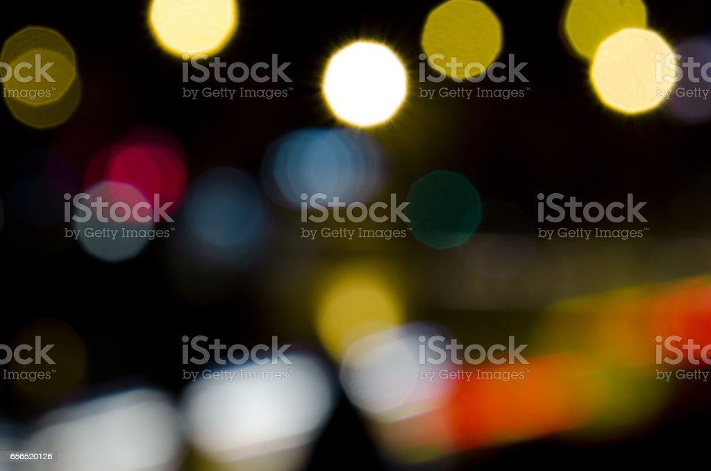 soft bokeh night city background stock photo