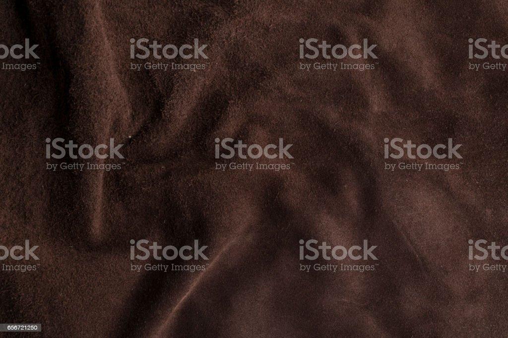 Soft brown chamois fabric stock photo