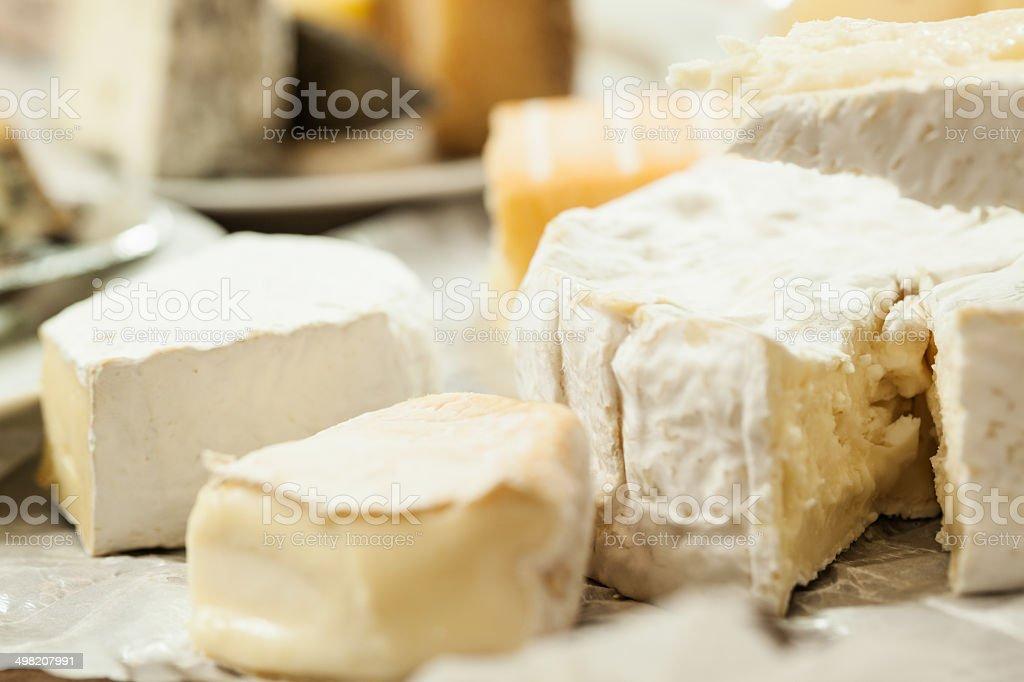 Soft cheese assortment stock photo