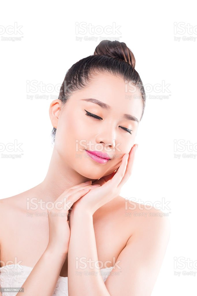 Soft clean skin stock photo
