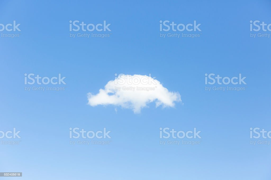 Soft cloud in the blue sky, nature background, copy space stock photo