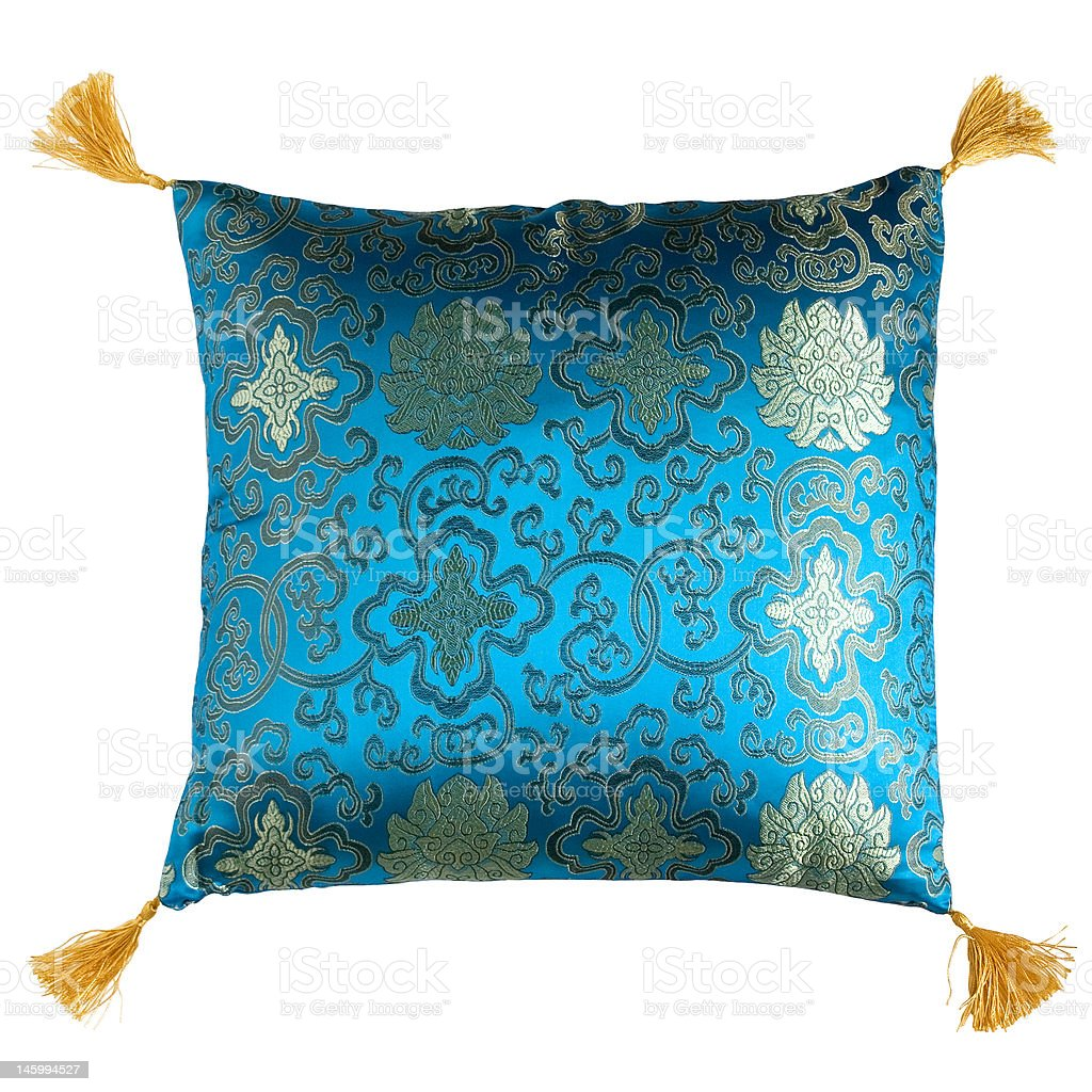 soft decorated pillow royalty-free stock photo