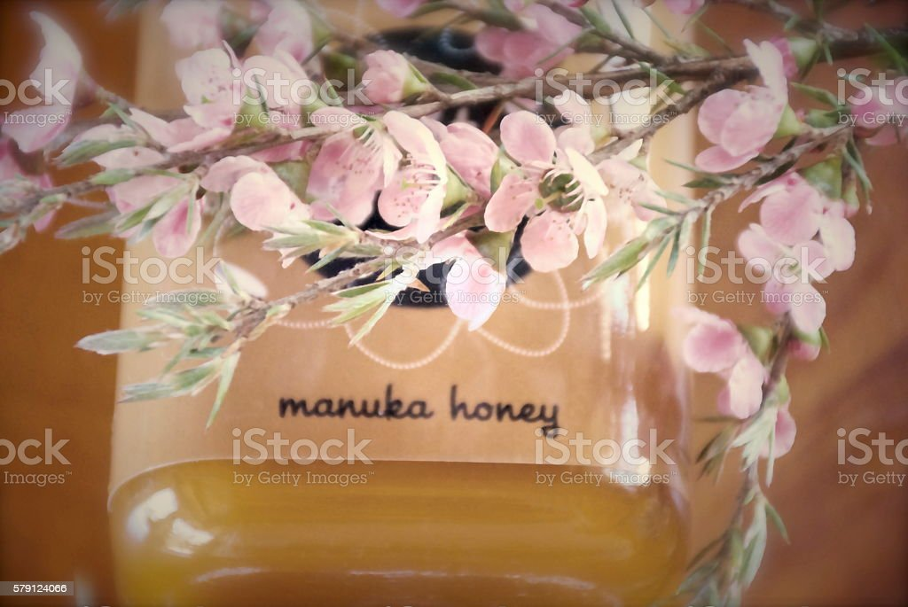 Soft Dreamy Manuka Honey Background stock photo