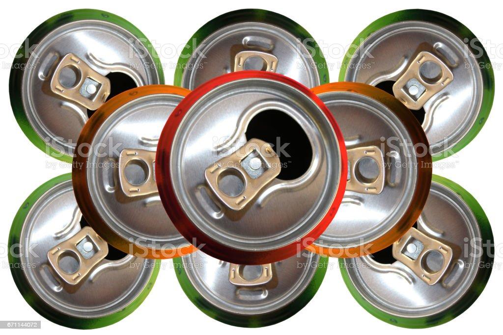 Canettes de boisson gazeuse stock photo