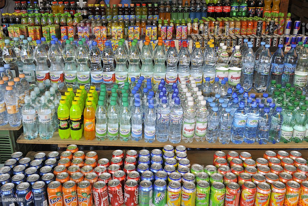 Soft Drinks in Poland Europe stock photo