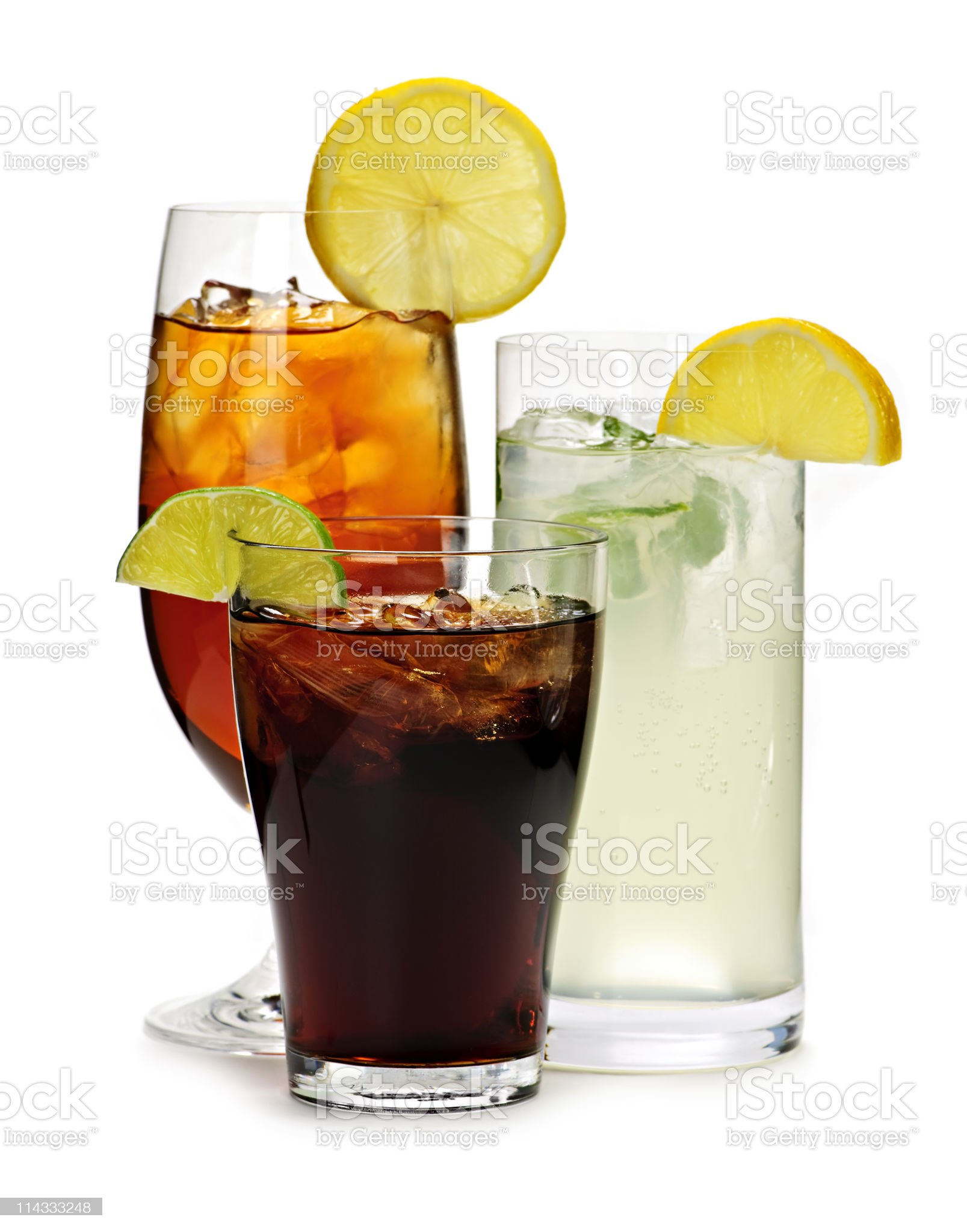 Soft drinks royalty-free stock photo