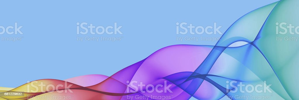 Soft flowing abstract multi colored background stock photo