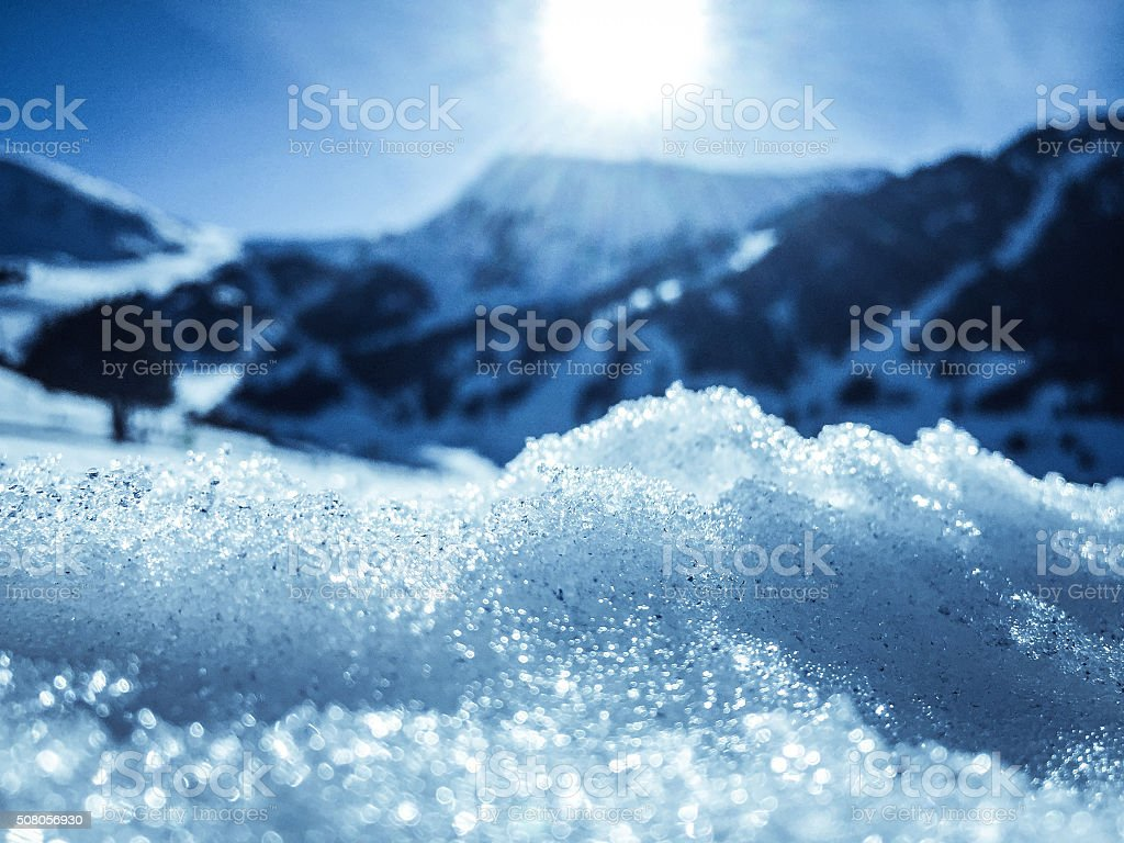 soft focus ice and mountains stock photo