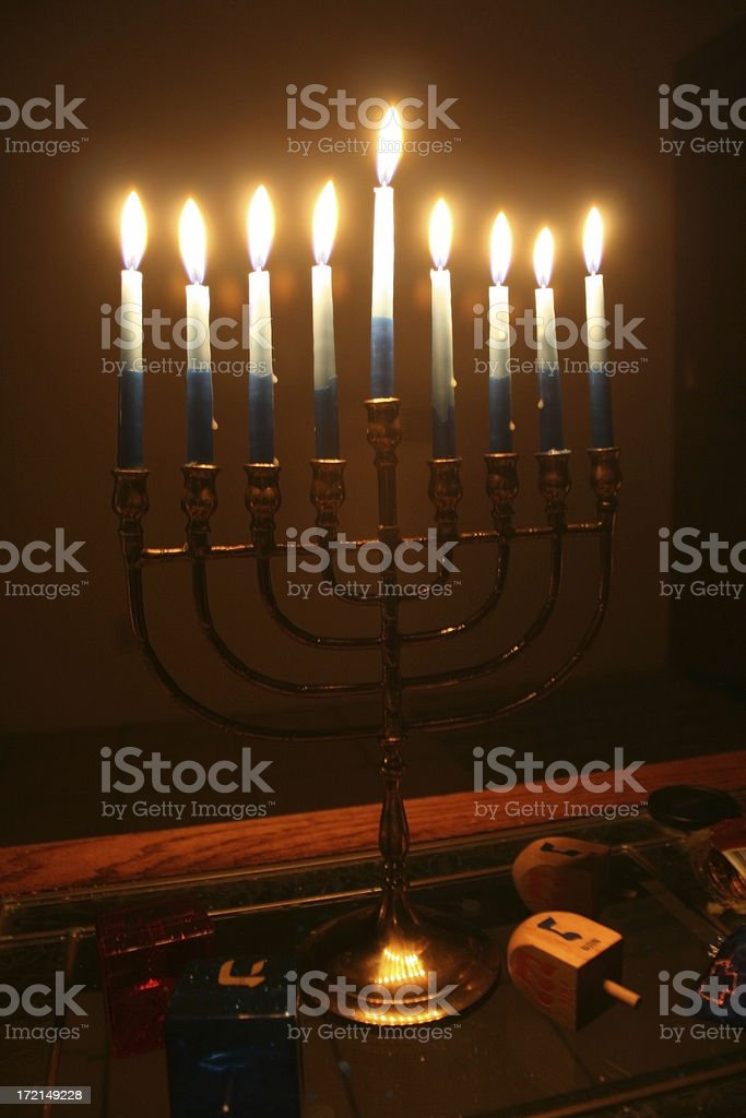 Soft Focus Menorah royalty-free stock photo