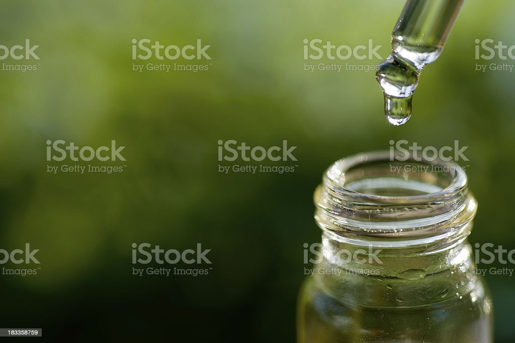 Soft focus of Herbal Essence stock photo