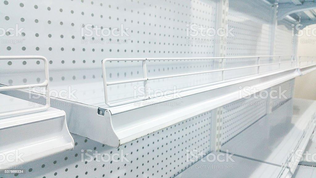 Soft focus , white shelves stock photo