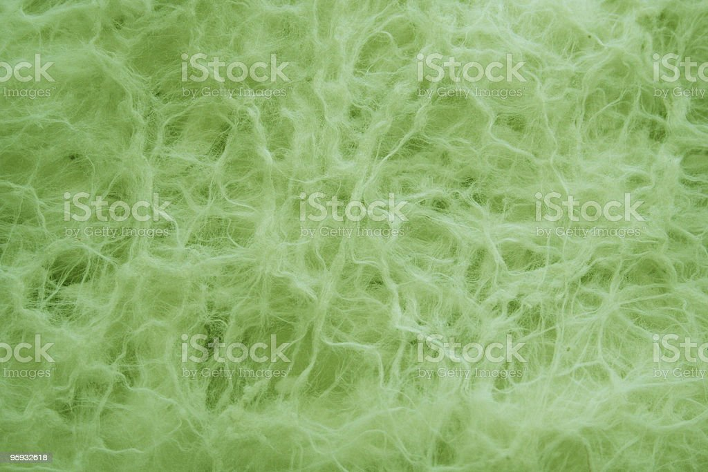Soft Green Stringy Cotton Background royalty-free stock photo
