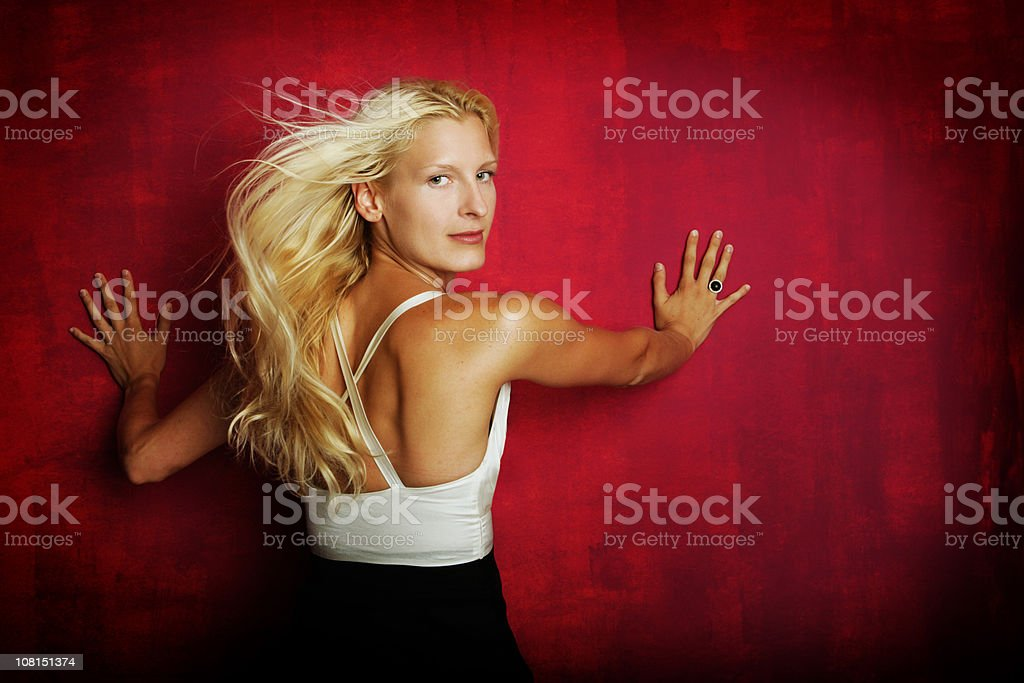 Soft hair stock photo