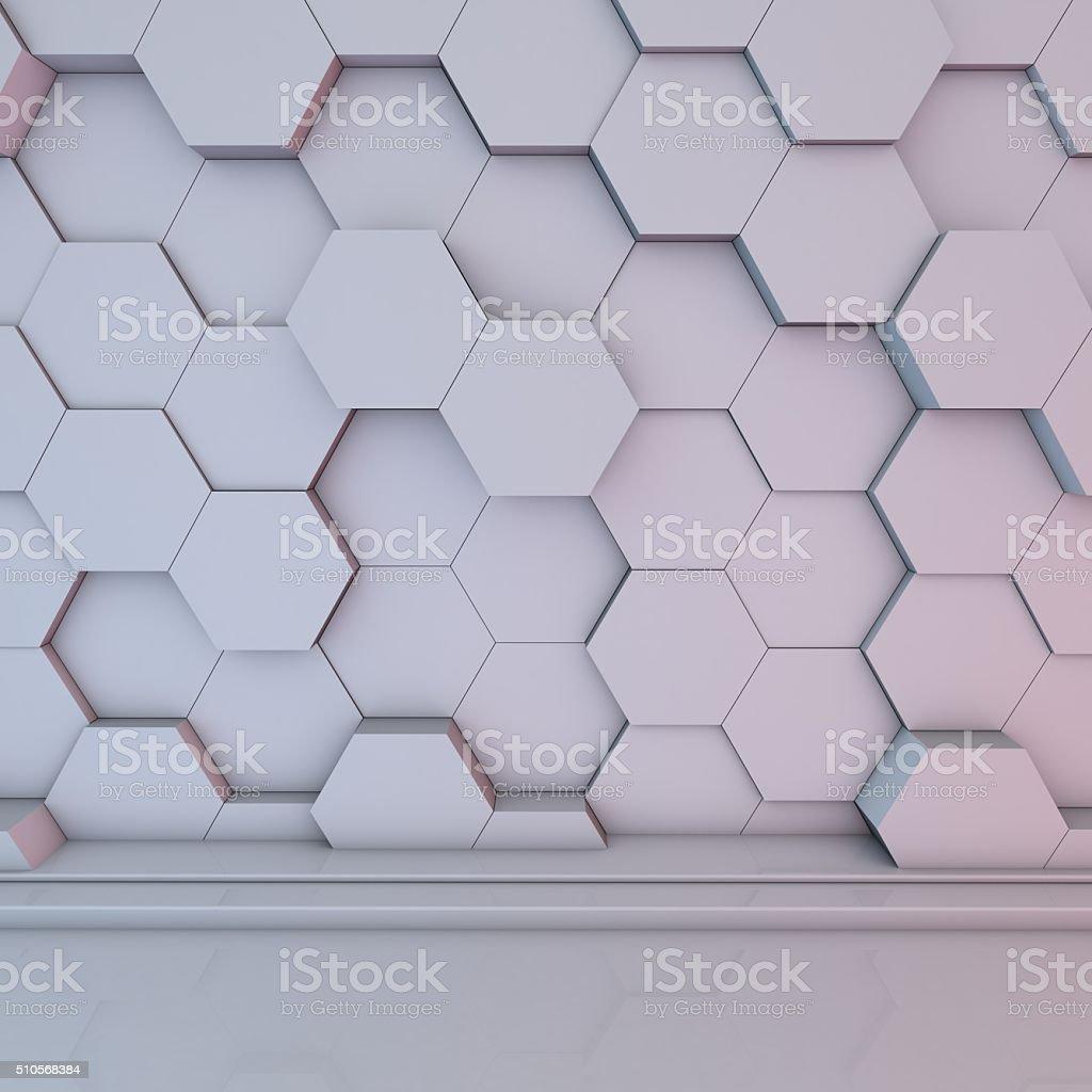Soft Hexagon Background Texture stock photo