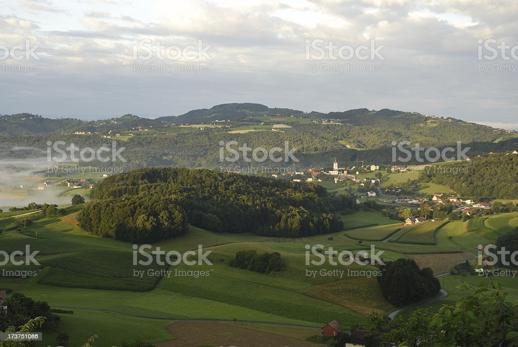 soft hills in styria stock photo