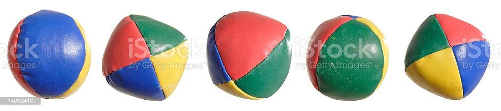 soft juggling balls stock photo