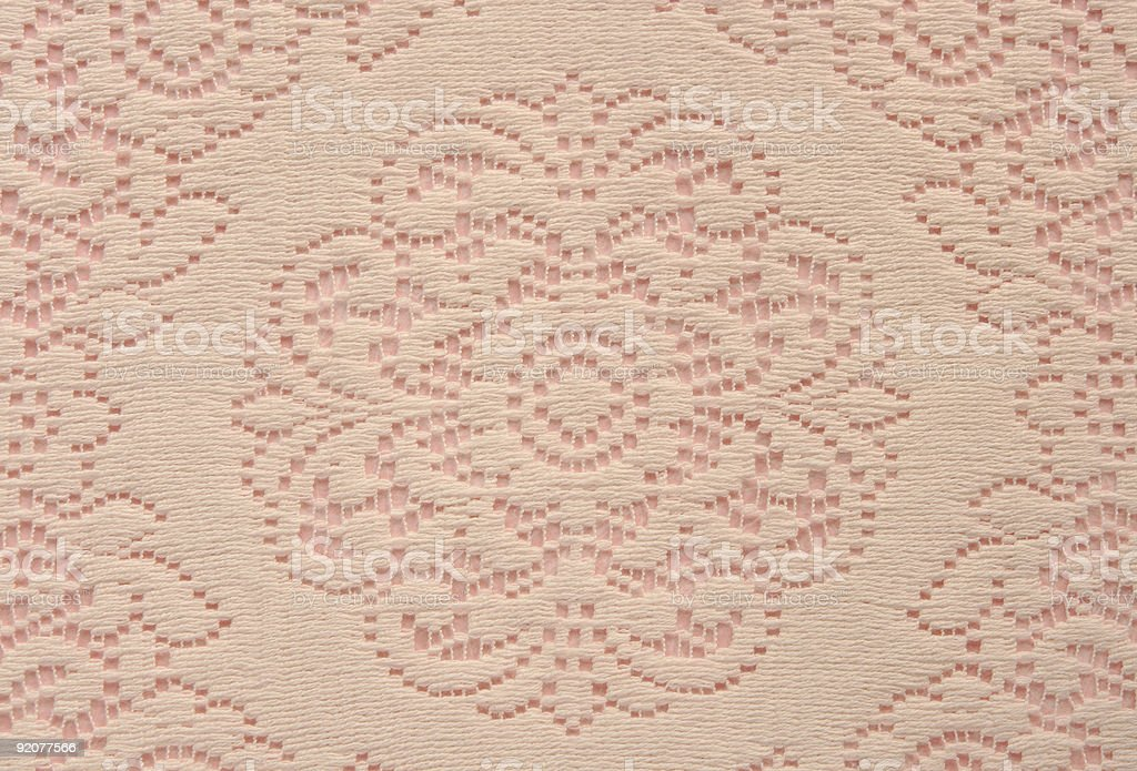 soft lace doily on pink royalty-free stock photo