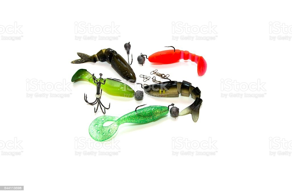 Soft lures. stock photo