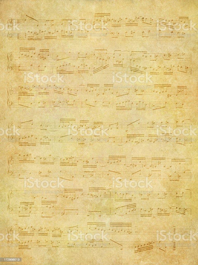 soft music sheet background royalty-free stock photo