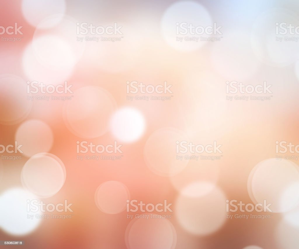 Soft orange bokeh blurred abstract background. stock photo