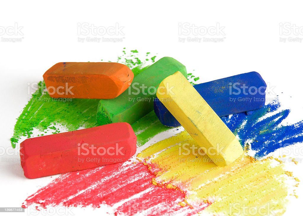 Soft pastels stock photo