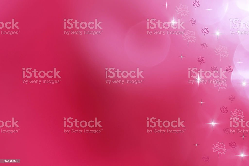 Soft pink background with flower ornaments for greeting royalty-free stock photo