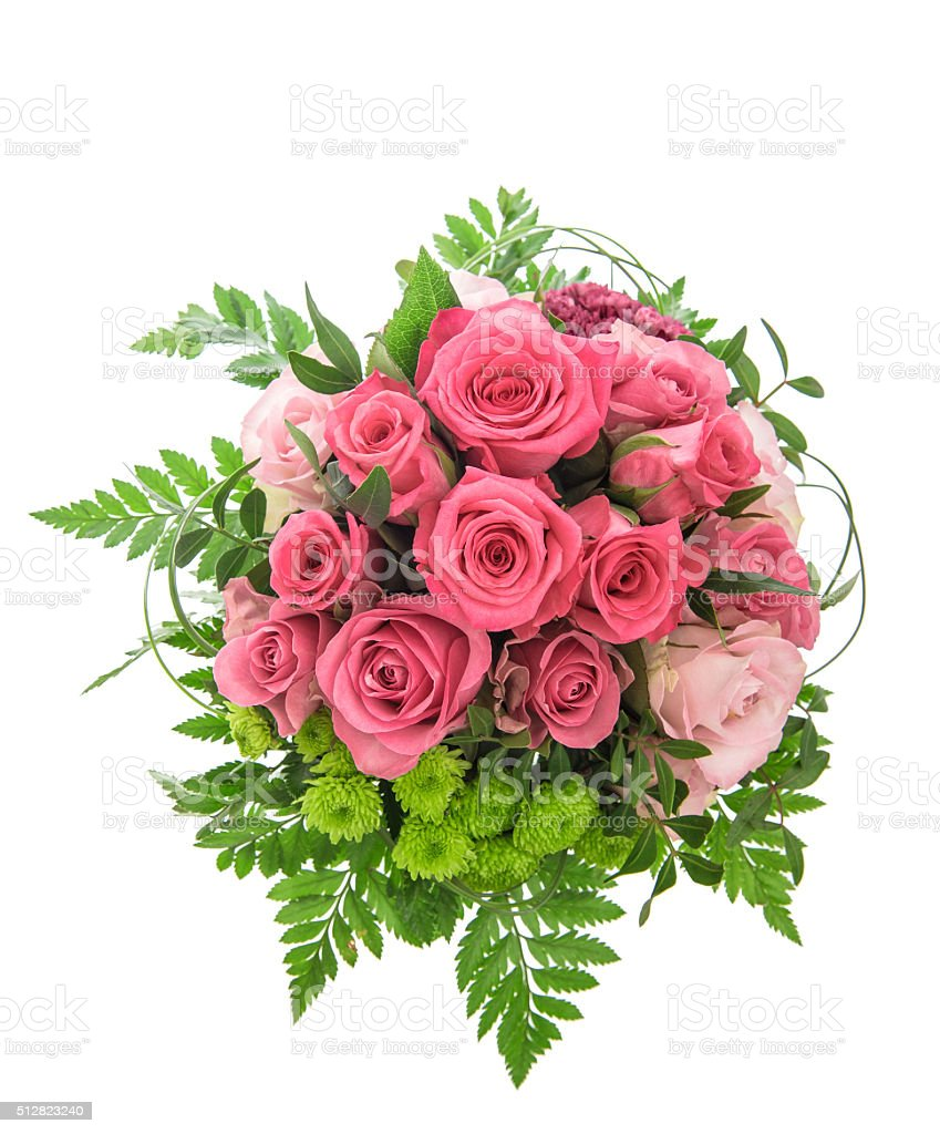 Soft pink rose flowers bouquet stock photo