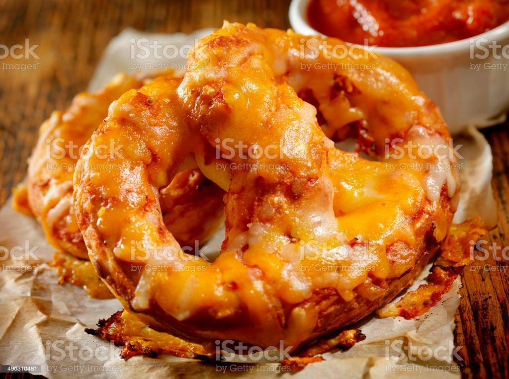 Soft Pizza Pretzels stock photo