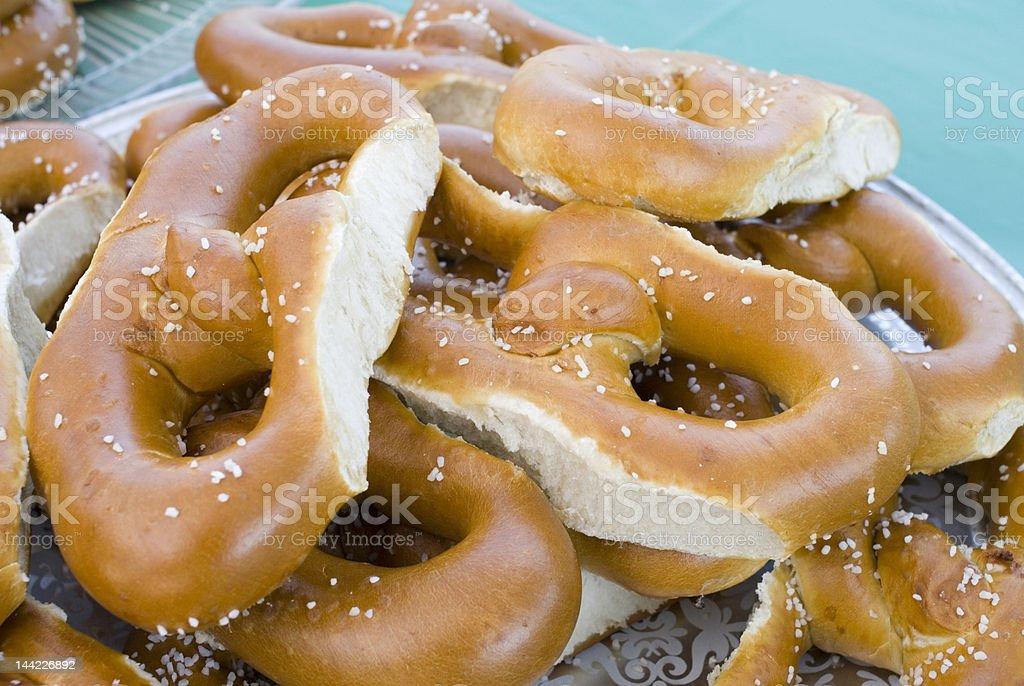 Soft pretzels stock photo